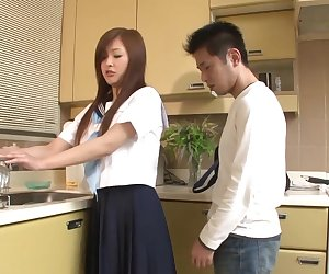 Sweet schoolgirl gets a dick in her mouth