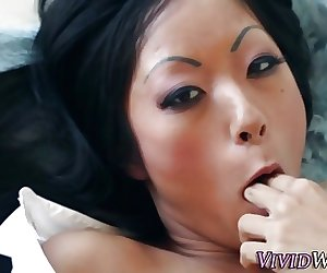 Buxom asian slut facial