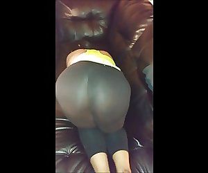 Darkfairys Asian Booty in See Through Yoga Pants