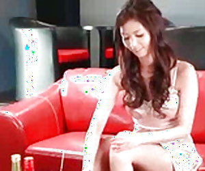 Winning japanese teen in lingerie is giving blowjob indoors