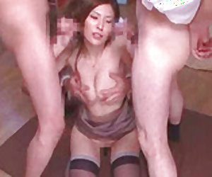 Horny Asian beauty banged in both tight holes