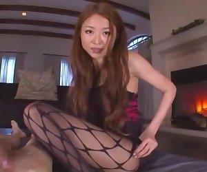 Hottest Japanese girl Sarasa Hara in Exotic Foot Fetish, Stockings JAV clip