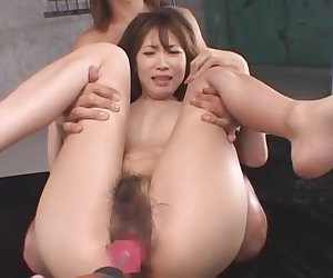 Exotic Japanese whore Chinatsu Izawa in Fabulous Threesomes, Small Tits JAV clip