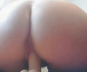 Big Ass Blonde Milf Pounds Wet Cunt With Dildo